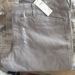 NWT Old Navy Light Gray Pixie Pants
